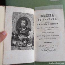 Libros antiguos: GUERRA DE GRANADA HECHA POR EL REY D. FELIPE II. DIEGO HURTADO DE MENDOZA. VALENCIA. 1830.. Lote 182775738