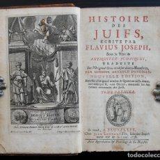 Libros antiguos: 1738 - FLAVIO JOSEFO: ANTIGÜEDADES JUDÍAS. GUERRA DE LOS JUDÍOS. 5 TOMOS ILUSTRADOS CON 232 GRABADOS. Lote 183335501