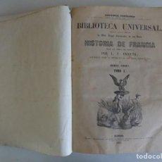 Libros antiguos: LIBRERIA GHOTICA. ANQUETIL. HISTORIA DE FRANCIA.1851.2 TOMOS EN 1 VOLUMEN EN FOLIO. MUCHOS GRABADOS. Lote 183524926