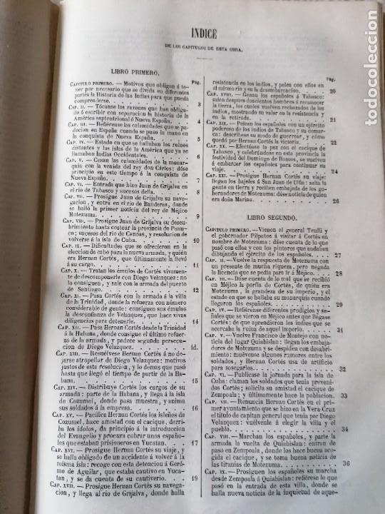 Libros antiguos: HISTORIA DE LA CONQUISTA DE MÉJICO POR ANTONIO SOLIS, CONQUISTA DE PERU POR G. PRESCOTT - Foto 3 - 183782098