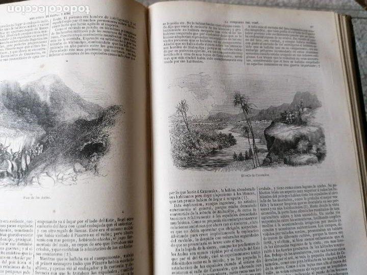 Libros antiguos: HISTORIA DE LA CONQUISTA DE MÉJICO POR ANTONIO SOLIS, CONQUISTA DE PERU POR G. PRESCOTT - Foto 6 - 183782098