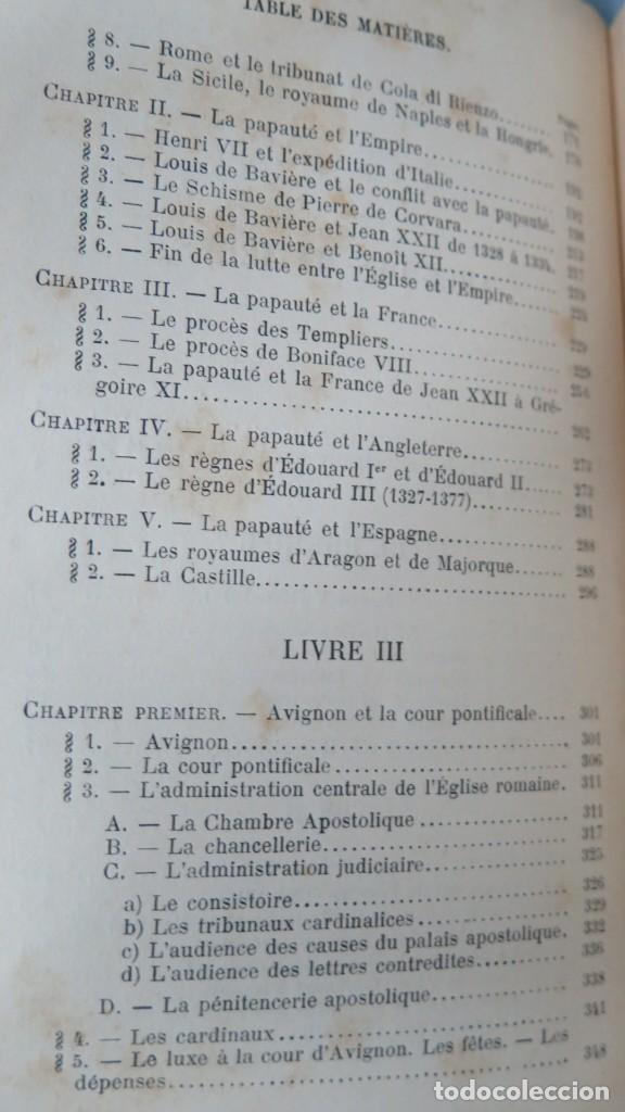 Libros antiguos: 1912.- LES PAPES D'AVIGNON (1305-1378). MOLLAT - Foto 3 - 183857958