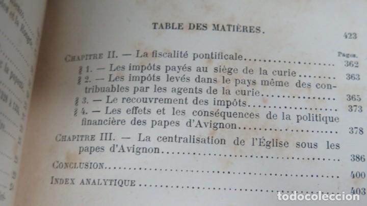 Libros antiguos: 1912.- LES PAPES D'AVIGNON (1305-1378). MOLLAT - Foto 4 - 183857958