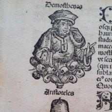 Libros antiguos: INCUNABLE: LAS CRÓNICAS DE NUREMBERG, 13 XILOGRAFIAS, ED. LATINA, 1493, ARISTOTELES, EPICURO (...). Lote 183895355