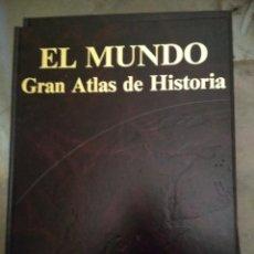 Livros antigos: EL MUNDO GRAN ATLAS DE HISTORIA, EBRISA 1985, 8 TOMOS. Lote 185694697