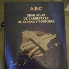 Libros antiguos: ABC BLANCO Y NEGRO GRAN ATLAS DE CARRETERAS EUROPA ESPAÑA Y PORTUGAL 1992 PLANETA. Lote 185696010