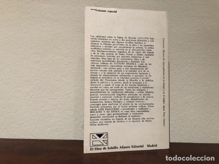Libros antiguos: Bocacio y su época. Vittore Branca. Alianza Editorial. Edad Media. Renacimiento. Libro nuevo. - Foto 3 - 185930628