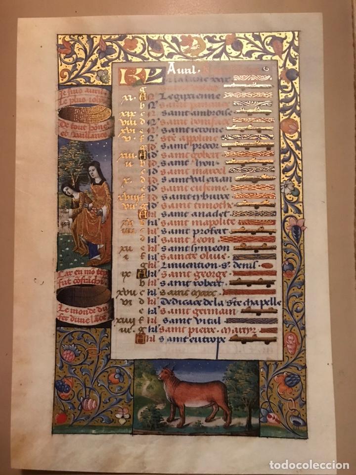 Libros antiguos: Horóscopo de Carlos VIII - Foto 7 - 186456445