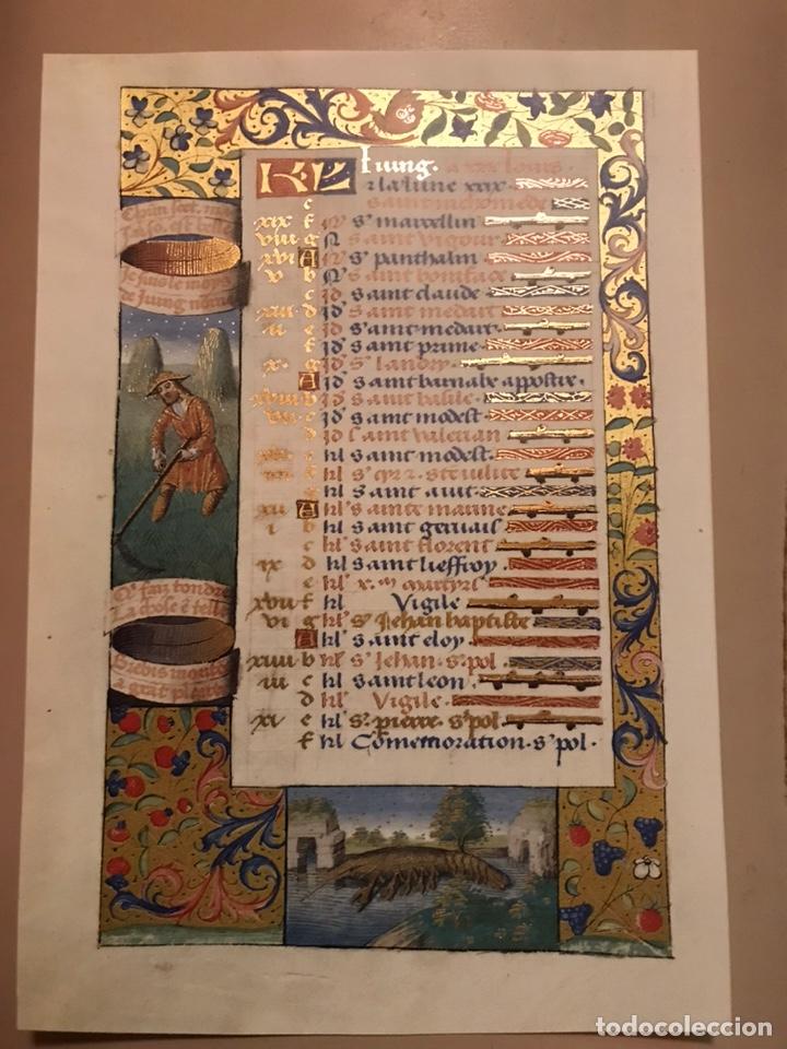 Libros antiguos: Horóscopo de Carlos VIII - Foto 8 - 186456445