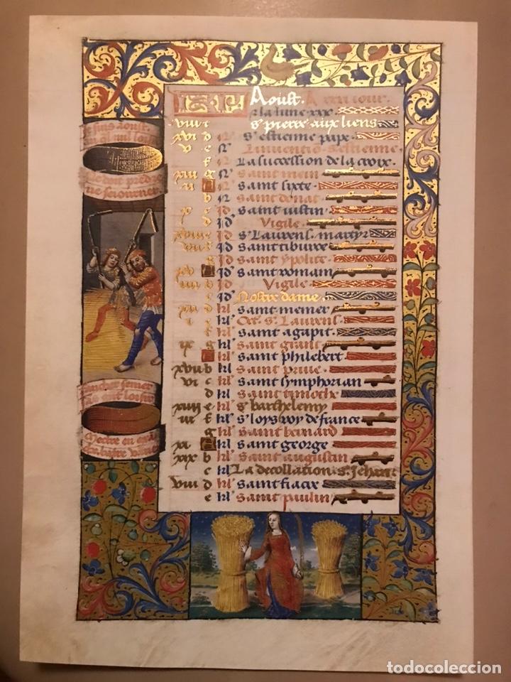Libros antiguos: Horóscopo de Carlos VIII - Foto 12 - 186456445