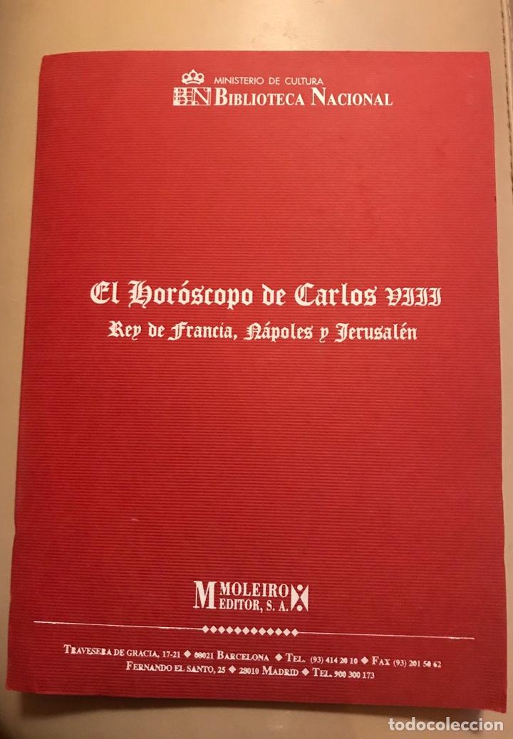 HORÓSCOPO DE CARLOS VIII (Libros antiguos (hasta 1936), raros y curiosos - Historia Antigua)