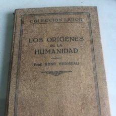Libros antiguos: LOS ORIGENES DE LA HUMANIDAD. Lote 188489782