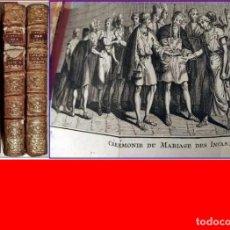 Libros antiguos: AÑO 1780: 3 TOMOS. CONQUISTA DE AMÉRICA: INCAS, MOCTEZUMA, PERÚ, MÉXICO, CORTÉS...CON DESPLEGABLES. Lote 189084778