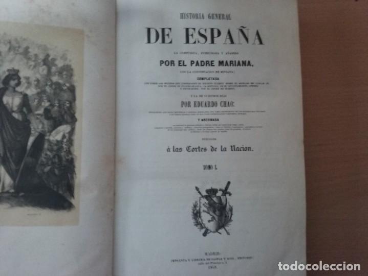 Libros antiguos: HISTORIA GENERAL DE ESPAÑA MARIANA (TOMO I, 1849) - PADRE MARIANA (POR EDUARDO CHAO) - Foto 3 - 189463653