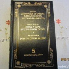 Libros antiguos: SALUSTO , CONJURACION DE CATILINA, GUERRA DE JUGURTA , HISTORIAS Y OTROS - GREDOS. Lote 189469826