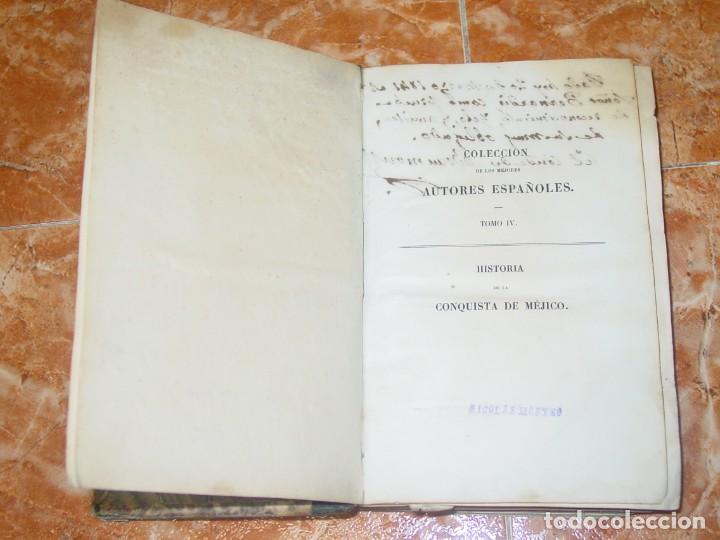 Libros antiguos: HISTORIA DE LA CONQUISTA DE MÉJICO, por Antonio de Solis, ed. librer. europea de Baudry, París, 1838 - Foto 3 - 189624356