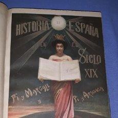 Libros antiguos: HISTORIA DE ESPAÑA EN EL SIGLO XIX 8 TOMOS COMPLETA PI Y MARGALL / ARSUAGA MIGUEL SEGUI EDITOR 1902. Lote 190053865