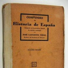 Libros antiguos: COMPENDIO DE HISTORIA DE ESPAÑA - LAFUENTE 1930. Lote 190157137