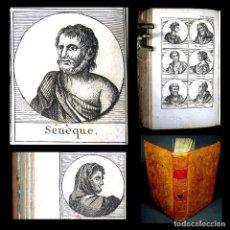 Libros antiguos: AÑO 1818 POMPEYO JULIO CÉSAR SÉNECA SALADINO GALENO PETRARCA EL PLUTARCO DE LA JUVENTUD GRABADOS. Lote 190183261