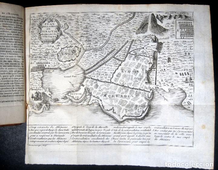 Libros antiguos: Año 1813 Imperio Persa y Antigua Grecia Babilonia Mapa grabado de Siracusa Historia Antigua Rollin - Foto 2 - 190184102