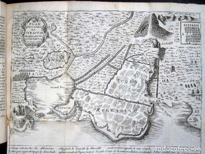 Libros antiguos: Año 1813 Imperio Persa y Antigua Grecia Babilonia Mapa grabado de Siracusa Historia Antigua Rollin - Foto 8 - 190184102