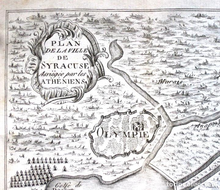 Libros antiguos: Año 1813 Imperio Persa y Antigua Grecia Babilonia Mapa grabado de Siracusa Historia Antigua Rollin - Foto 9 - 190184102