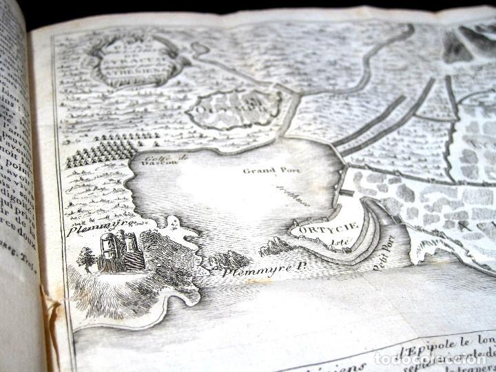 Libros antiguos: Año 1813 Imperio Persa y Antigua Grecia Babilonia Mapa grabado de Siracusa Historia Antigua Rollin - Foto 10 - 190184102