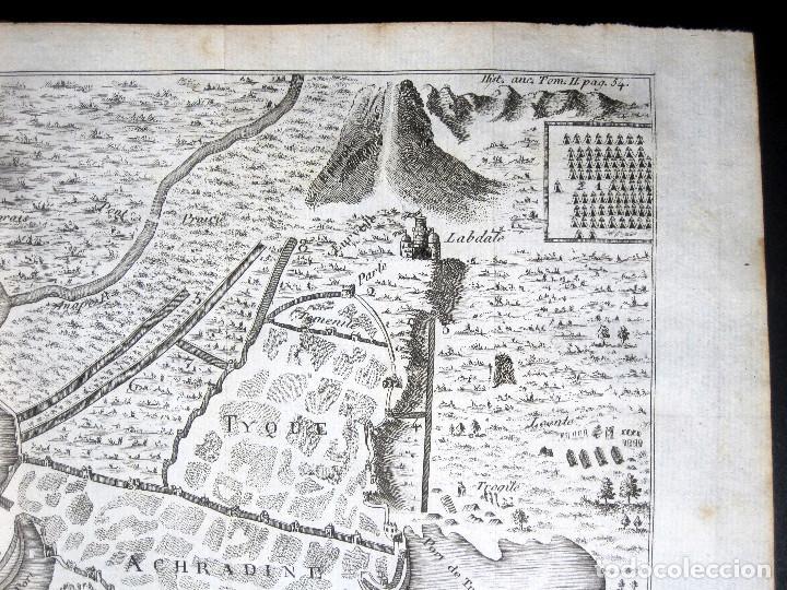 Libros antiguos: Año 1813 Imperio Persa y Antigua Grecia Babilonia Mapa grabado de Siracusa Historia Antigua Rollin - Foto 11 - 190184102
