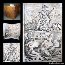 Libros antiguos: AÑO 1720 RARO LA HISTORIA DE LA ANTIGUA ROMA DE LA CAÍDA DEL IMPERIO A CARLOMAGNO GRABADO ECHARD . Lote 190221538