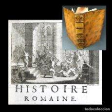 Libros antiguos: AÑO 1742 HISTORIA ROMANA 2 EJEMPLARES EN ESPAÑA CONSTANTINOPLA ANDRÓNICO EMPERADORES GRABADO ECHARD. Lote 190304960