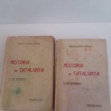 Libros antiguos: HISTORIA DE CATALUNYA DE A. DE BOFARULL TOMO XX Y XXX 1909 Y 1910. Lote 190327171