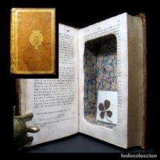 Libros antiguos: AÑO 1845 LIBRO DE CONTRABANDISTAS CON COMPARTIMENTO SECRETO RARÍSIMO ESCUDO DE ARMAS PLUTARCO. Lote 190397917
