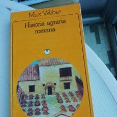 Libros antiguos: HISTORIA AGRARIA ROMANA. Lote 190515596