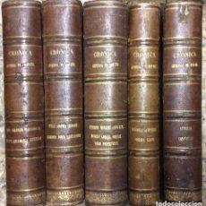 Libros antiguos: CRÓNICA GENERAL DE ESPAÑA O SEA HISTORIA ILUSTRADA Y DESCRIPTIVA DE SUS PROVINCIAS.5 TOMOS . Lote 190709171