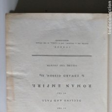Libros antiguos: THE HISTORY OF THE DECLINE AND FALL OF THE ROMAN EMPIRE. BY EDWARD GIBBON, LONDON, 1783. Lote 191982328