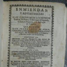 Libros antiguos: AÑO 1683, ZURITA GERÓNIMO, ENMIENDAS Y ADVERTENCIAS A LAS CRONICAS DE LOS REYES DE CASTILLA. Lote 192003115