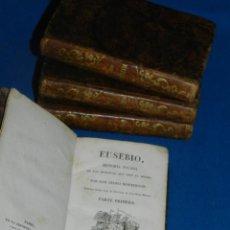Libros antiguos: (MF) PEDRO MONTENGON - EUSEBIO, HISTORIA SACADA DE LAS MEMORIAS QUE DEJÓ EL MISMO. 4 TOMOS, COMPLETO. Lote 192551756