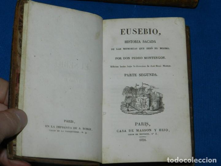 Libros antiguos: (MF) PEDRO MONTENGON - EUSEBIO, HISTORIA SACADA DE LAS MEMORIAS QUE DEJÓ EL MISMO. 4 TOMOS, COMPLETO - Foto 3 - 192551756