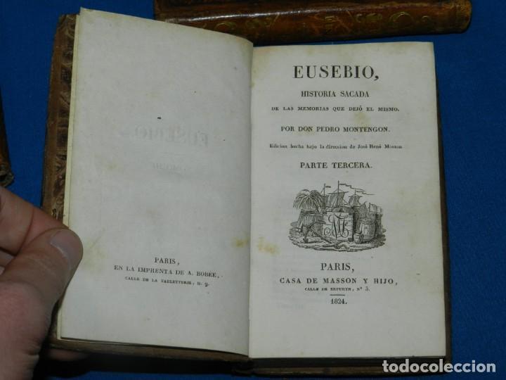Libros antiguos: (MF) PEDRO MONTENGON - EUSEBIO, HISTORIA SACADA DE LAS MEMORIAS QUE DEJÓ EL MISMO. 4 TOMOS, COMPLETO - Foto 4 - 192551756