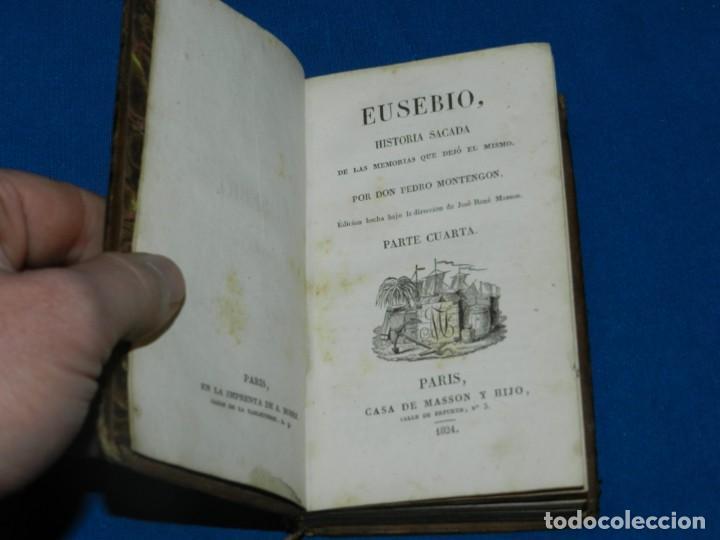Libros antiguos: (MF) PEDRO MONTENGON - EUSEBIO, HISTORIA SACADA DE LAS MEMORIAS QUE DEJÓ EL MISMO. 4 TOMOS, COMPLETO - Foto 5 - 192551756
