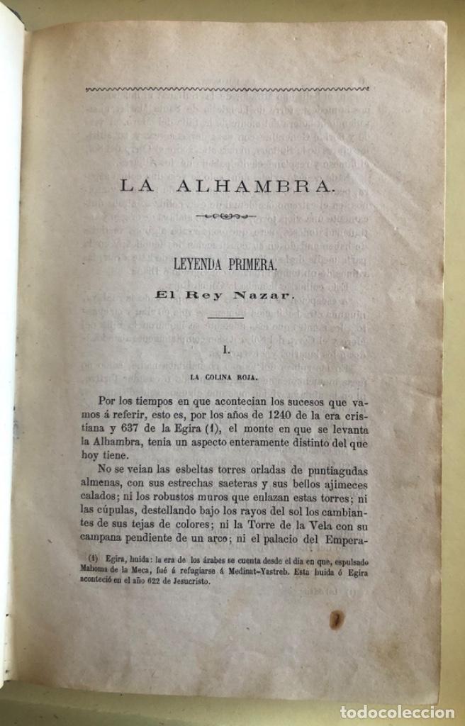 Libros antiguos: LA ALHAMBRA- LEYENDAS ARABES- MANUEL FERNANDEZ Y GONZALEZ- MADRID 1.863 - Foto 3 - 194028115