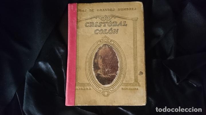 CRISTOBAL COLÓN. VIDAS DE GRANDES HOMBRES. (Libros antiguos (hasta 1936), raros y curiosos - Historia Antigua)