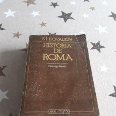Libros antiguos: LIBRO HISTORIA DE ROMA S.I. KOVALIOV. Lote 194168133