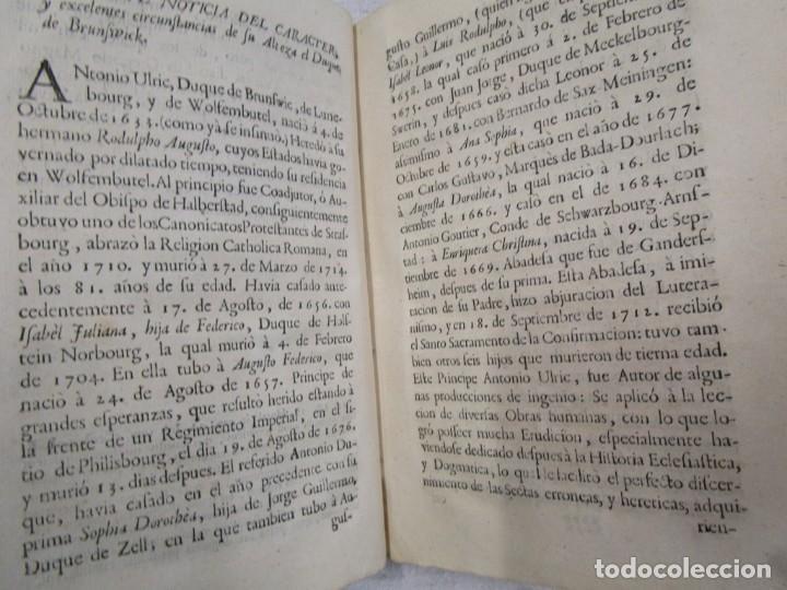 Libros antiguos: EL DUQUE DE BRUNSVICK DESENGAÑADO Y FELIZMENTE RECONVERTIDO..- DON PEDRO DE CASTRO - MADRID 1767 + - Foto 6 - 194213800