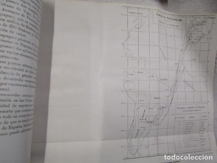 Libros antiguos: CARTAS SOBRE GALICIA - DOMINGO VILLAR GRANGEL - Madrid 1914 259pag 19cm plena piel, fotos b/n + - Foto 10 - 194236981