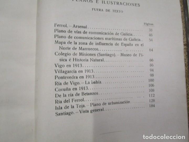 Libros antiguos: CARTAS SOBRE GALICIA - DOMINGO VILLAR GRANGEL - Madrid 1914 259pag 19cm plena piel, fotos b/n + - Foto 13 - 194236981