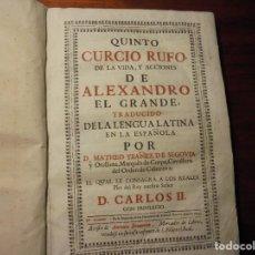 Libros antiguos: HISTORIA ALEJANDRO MAGNO. CURCIO RUFO. 1699. Lote 194331502