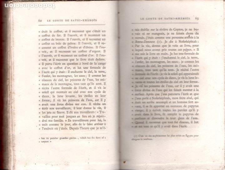 Libros antiguos: GASTON MASPERO : LES CONTES POPULAIRES DE LÉGYPTE ANCIENNE (MAISONNEUVE, 1882) EGIPTO - Foto 3 - 194405325