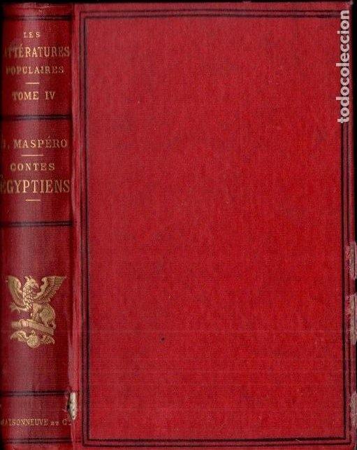 GASTON MASPERO : LES CONTES POPULAIRES DE L'ÉGYPTE ANCIENNE (MAISONNEUVE, 1882) EGIPTO (Libros antiguos (hasta 1936), raros y curiosos - Historia Antigua)
