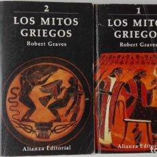 Libros antiguos: LOS MITOS GRIEGOS. AUTOR: ROBERT GRAVES. 2 TOMOS. Lote 194489030